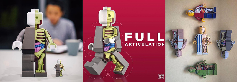 LEGO sanat: bigger micro anatomic jason freeny