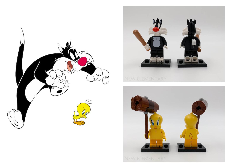 LEGO Looney Tunes Sylvester ve Tweety